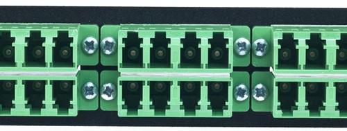 MAP Series Adapter Plates - 24 LC Singlemode APC Quads Green