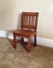 "Children's Chair, Red Oak 12"" Seat Height - Dark Oak Finish"