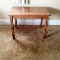 "Children's Table, Red Oak 22"" H - Dark Oak Finish"