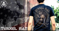 "Men's Military T-Shirt - Tunnel Rat ""Rats Ass"" American Pride"