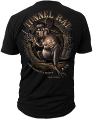 "Men's Military T-Shirt - Tunnel Rat ""Rats Ass"" American Pride - Back"