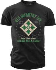 Men's Army T-Shirt - US Army 4th Infantry Retro United States Army - Front