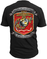 Men's Marines T-Shirt - US Marines ONCE A MARINE ALWAYS A MARINE - Back