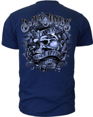 Men's Navy T-Shirt - US Navy Davy Jones - The Savior of Sailors - Back
