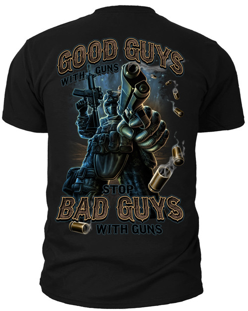 Men's 2nd Amendment T-Shirt - Right to Bear Arms Good Guys with Guns - American Pride Shirt Back