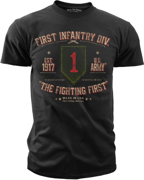 Men's Army T-Shirt -  US Army 1st Infantry Retro - Front