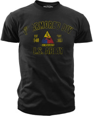 Men's Army T-Shirt - US Army 1st Armored Division Retro - Front