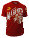 Men's Marines T-Shirt - US Marines -The Few The Proud USMC - Red - Front