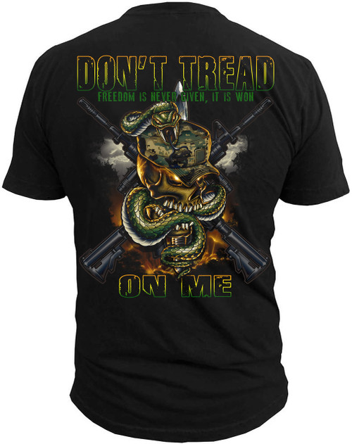 Men's Shirt - Don't Tread on Me - Freedom is Never Given Men's T-Shirt