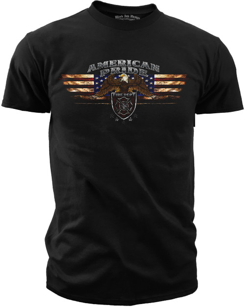 Men's Fire Fighter T-shirt - American Pride - Front