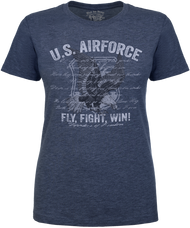 Lady's Air Force T-shirt - US Air Force Fly Fight Win