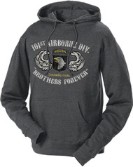 Men's and Women's Army Hoodie - 101st AIrborne of US Army Division Brothers Forever Retro Hooded Sweatshirt