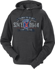 Men's and Women's Hoodie - 10th Mountain Division Retro US Army Hooded Sweatshirt