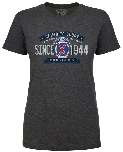 Lady's T-Shirt - 10th Mountain Division Women's Retro US Army
