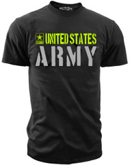 Men's Army T-Shirt - United States Army Hi Vis Performance - Black