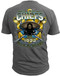 Men's Navy T-Shirt - Navy Chief - All in, All the Time - United States Navy - Charcoal - Back