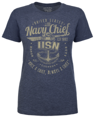 Lady's shirt - Once a Chief U.S. Navy Women's Soft Spun