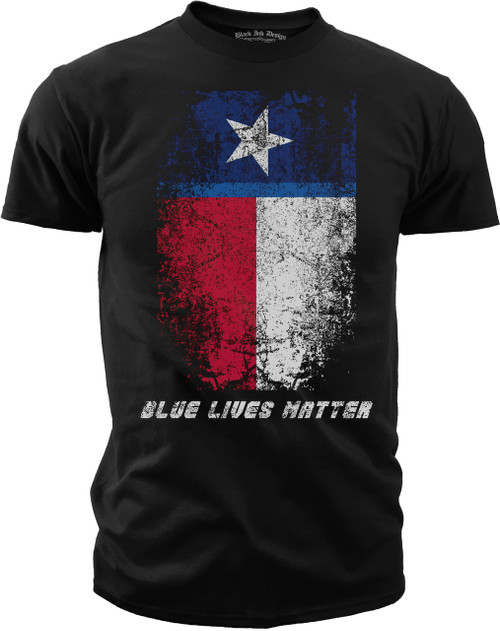 Men's T-Shirt Blue Lives Matter - Texas Flag T-Shirt