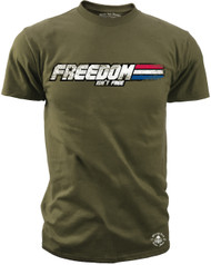 Men's T-Shirt - Freedom Joe - Freedom Isn't Free - American Pride Shirt Olive