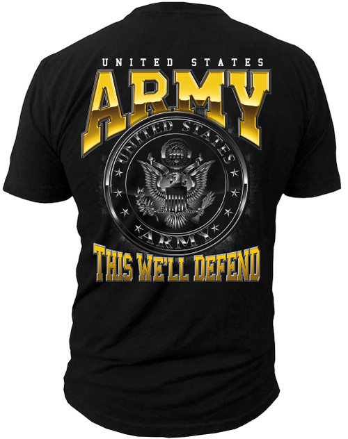 Men's T-Shirt - United States Army - This We'll Defend - American Pride T-Shirt  (Back)