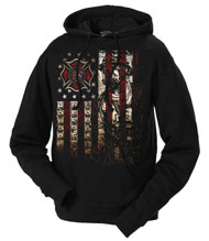 Men's Firefighter Hoodie - American Flag - Front