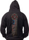 Men's Firefighter Hoodie - American Flag - Back