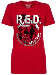 Women's R.E.D. Friday T-Shirt - American Pride - Remember Everyone Deployed