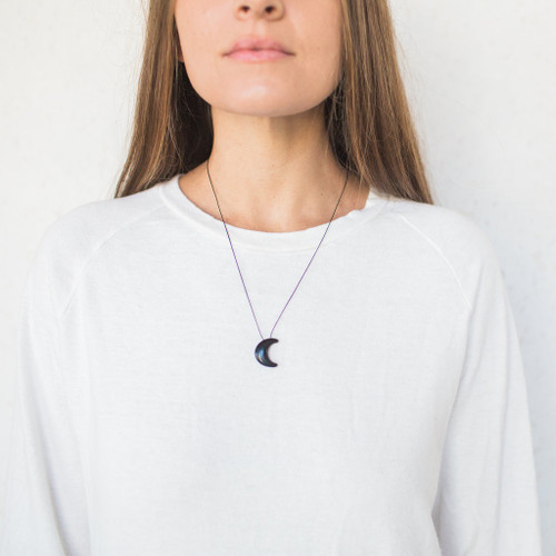 Christopher Miller : Crescent Moon Necklace