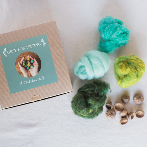 Grey Fox Felting : Felted Acorn Kit