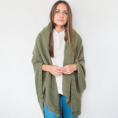 Jungmaven : Hemp Canvas Blanket Supply Green