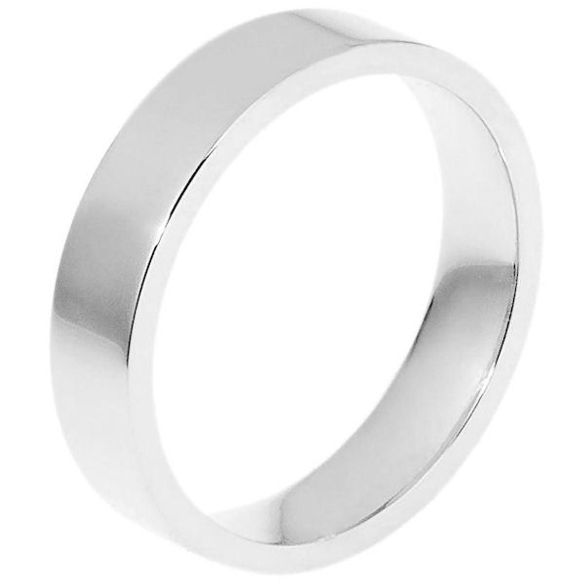 5.0 mm Flat Inside Comfort Fit Wedding Ring