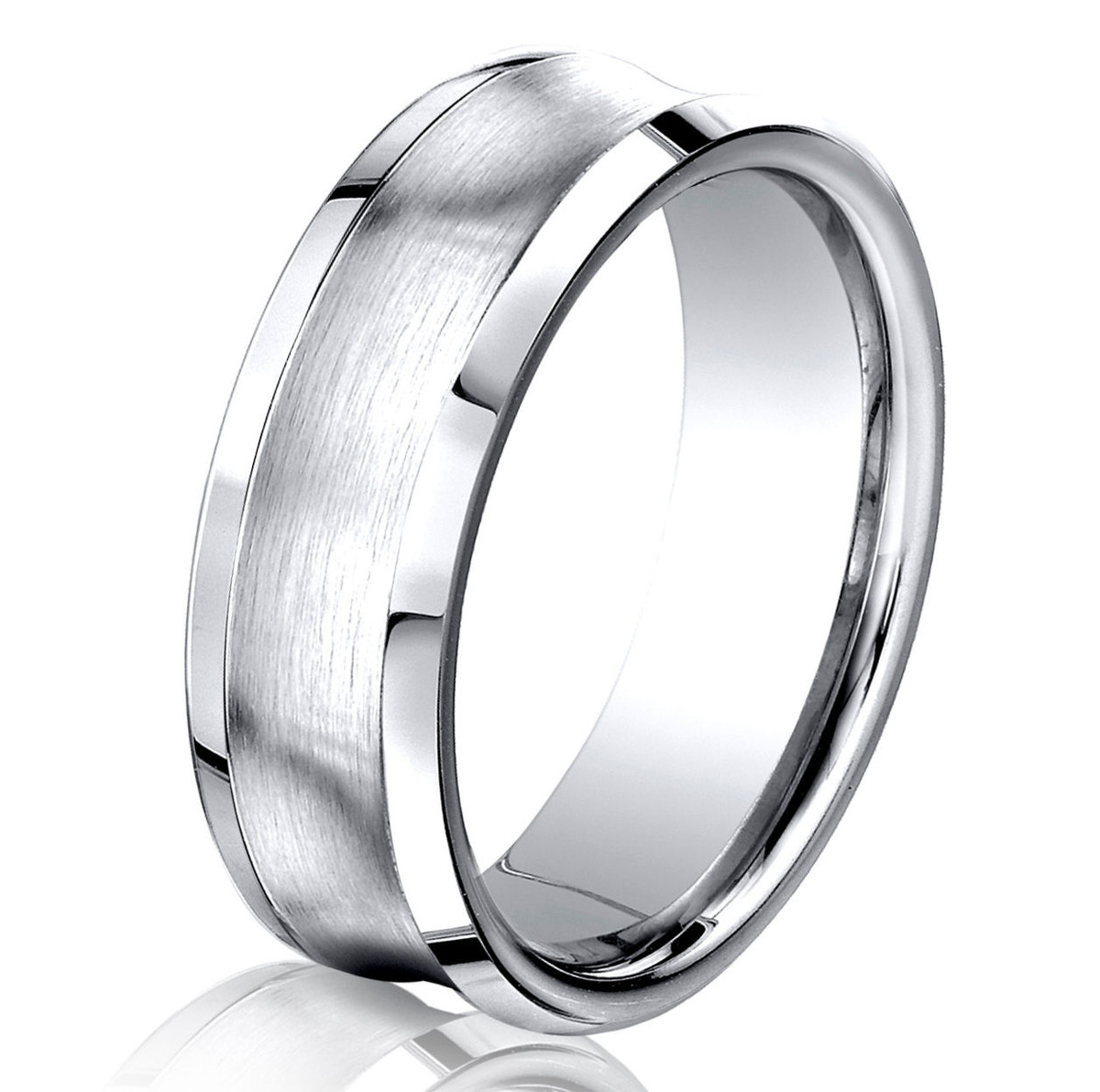 Cobalt Chrome Concave Wedding Ring