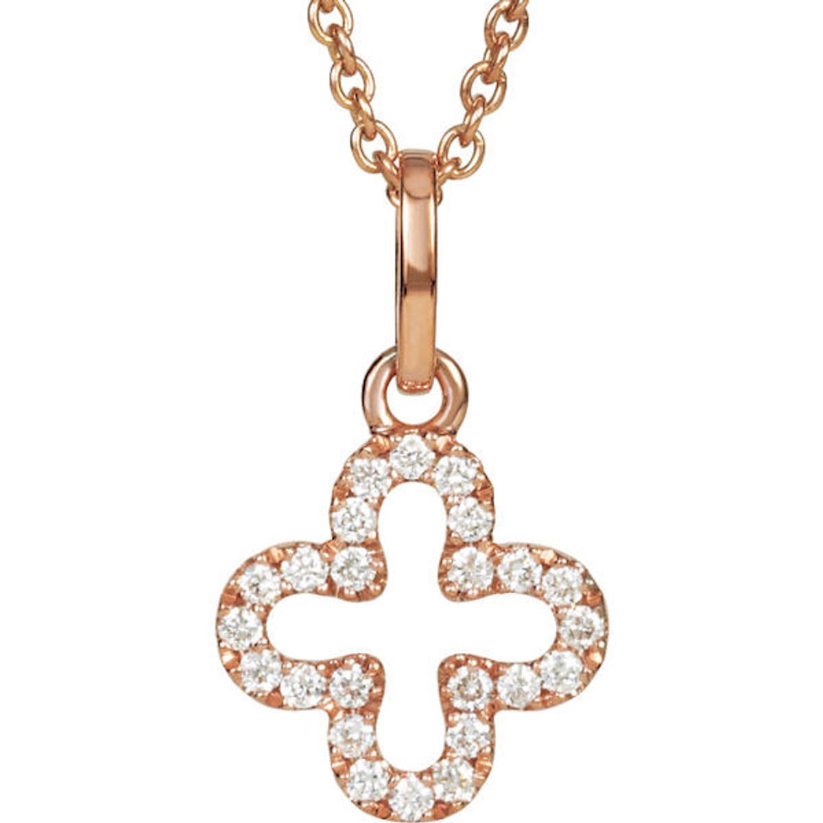 Rose Gold Diamond Cross