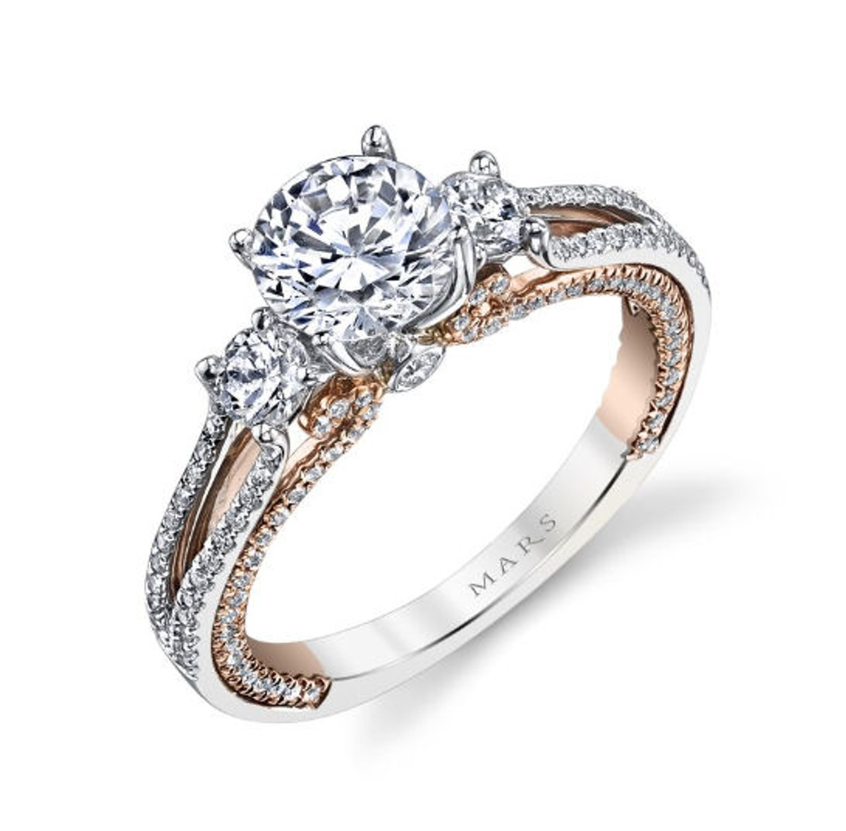 0.66 Diamond Accent Engagement Ring
