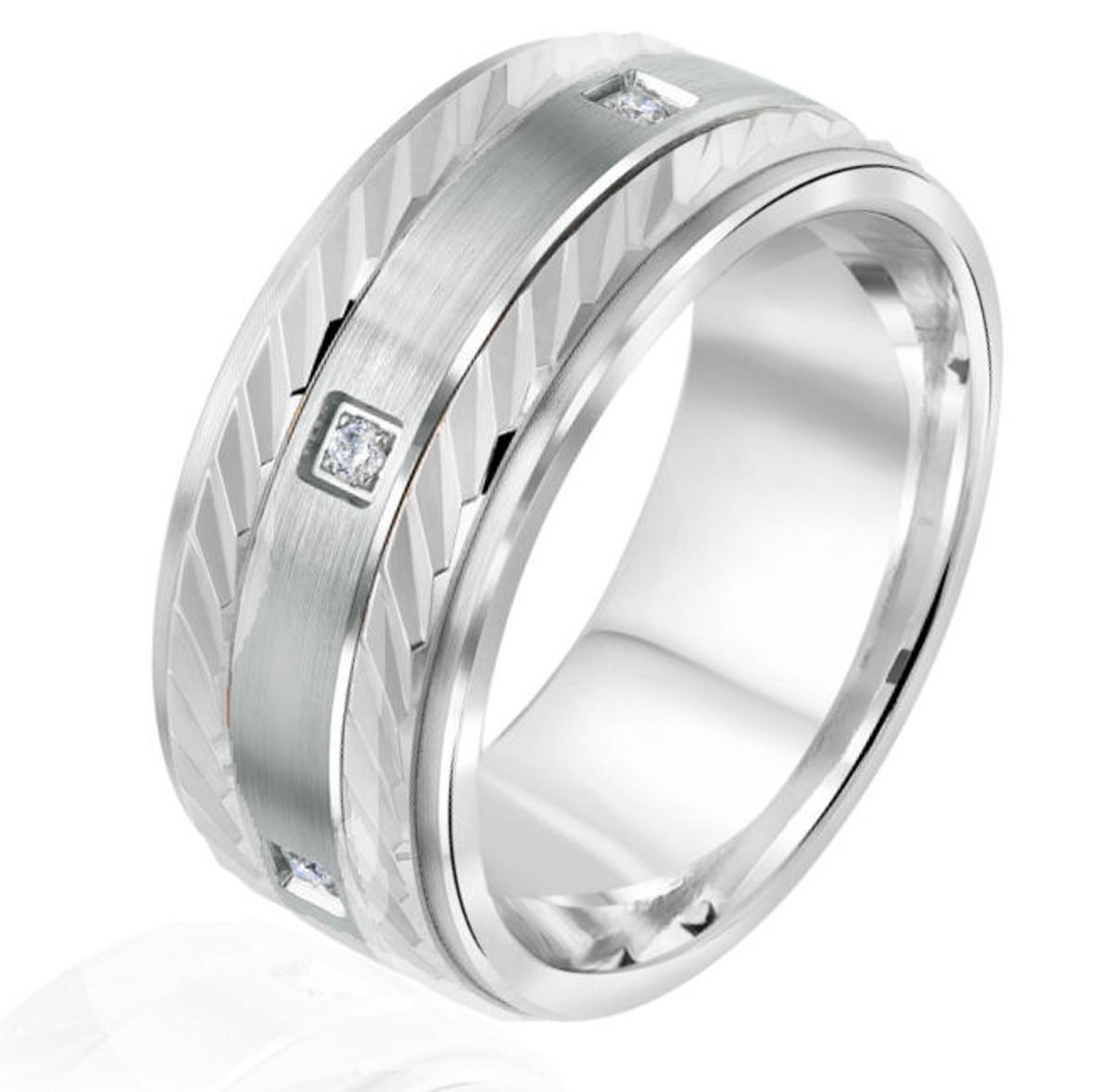 White Gold Princess Cut Wedding Ring