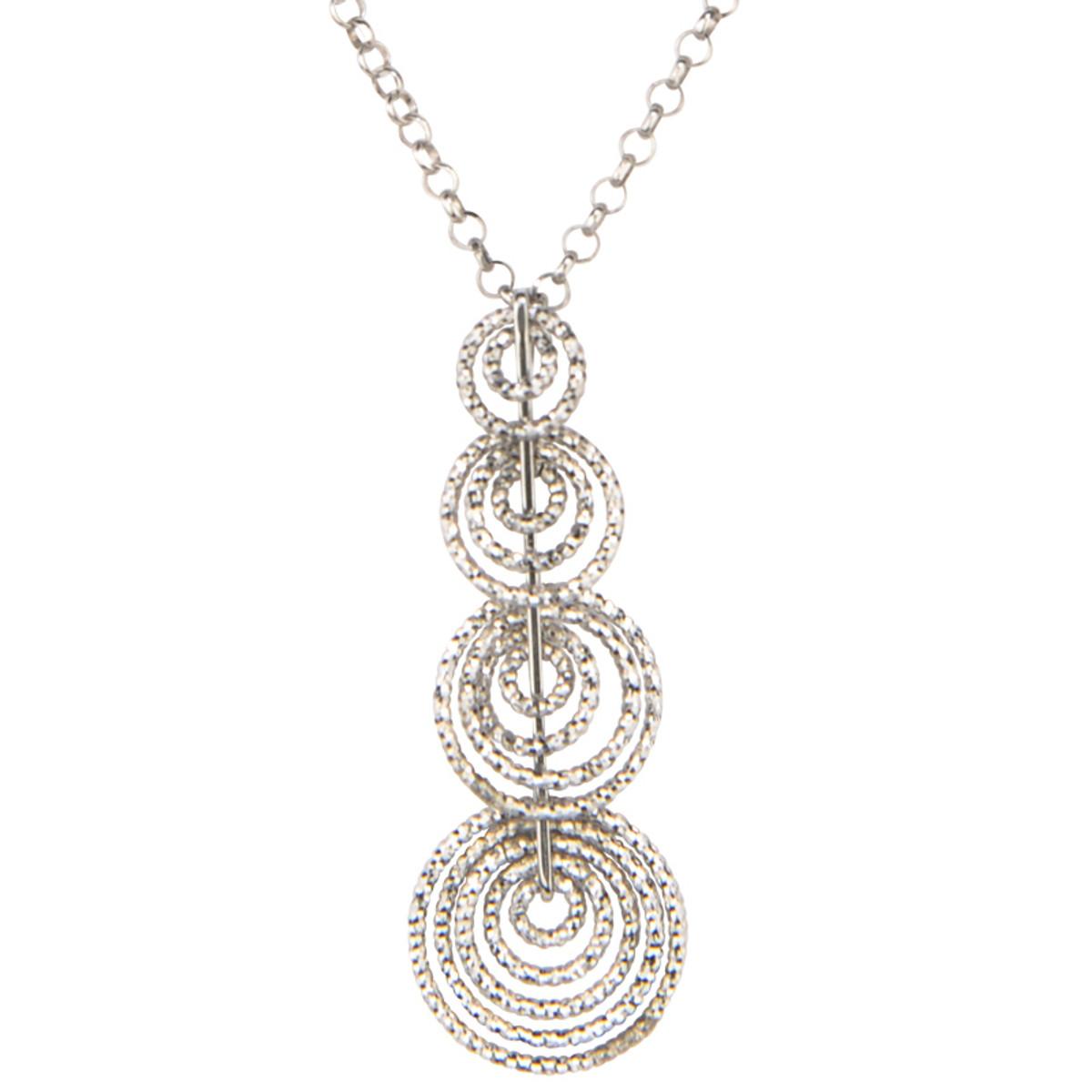 Graduating Circles Necklace, Frederic Duclos