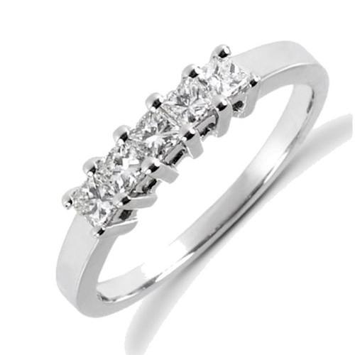 0.50 ct tw Princess Cut Diamonds