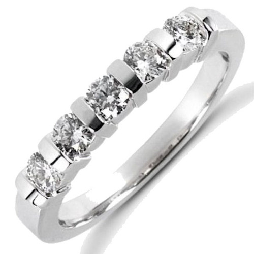 5 Stone 0.75 ct tw Diamond Anniversary Ring