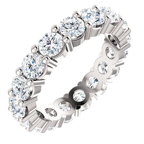 14Kt White Gold 3.4 CT TW. Classic Eternity Ring