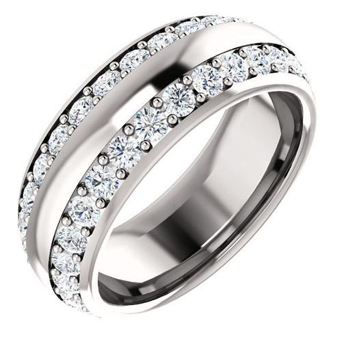 Two Row Diamond Eternity Ring