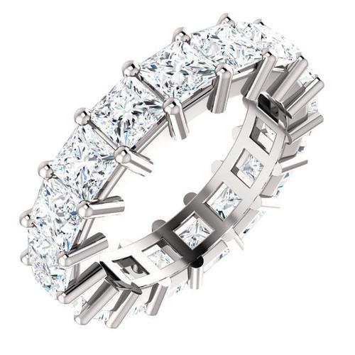 6.5 ct tw Princess Cut Eternity Ring