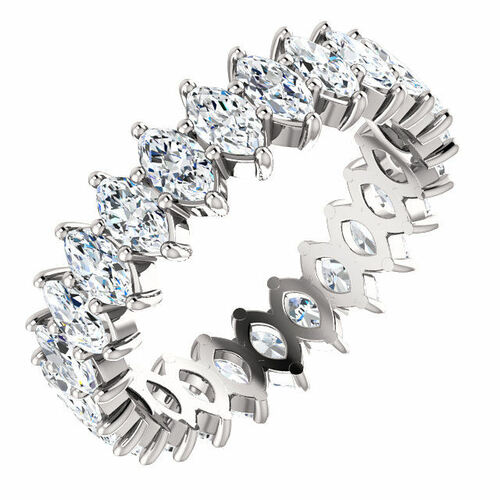 3.0 ct tw Marquise Diamond Eternity Ring
