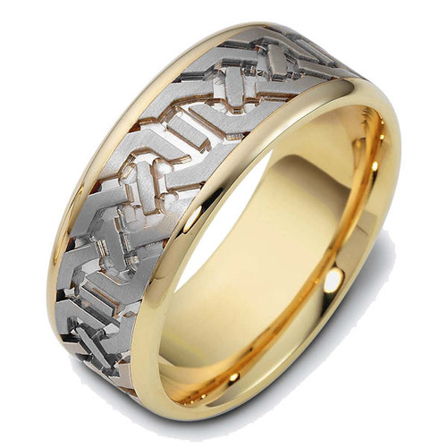 Carved Contemporary Wedding Band | PJ430