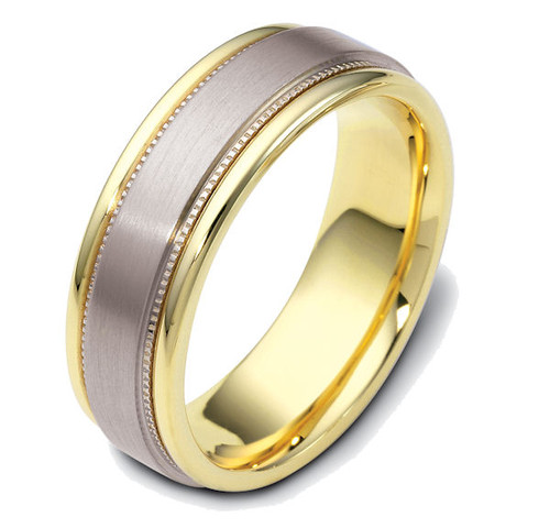 Milgrain Men's Classic Wedding Band