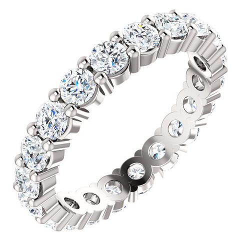 14Kt White Gold Classic Diamond Eternity Ring