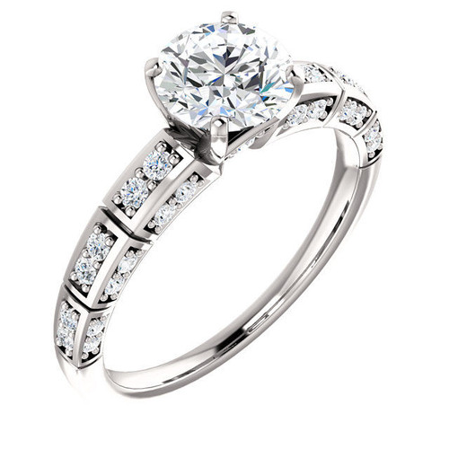0.30 Ct Tw Diamond Accent Engagement Ring