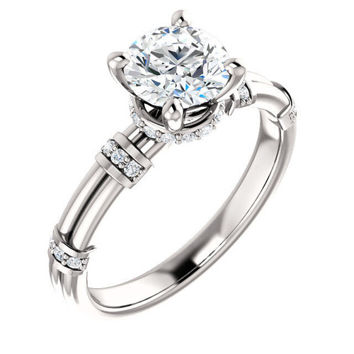 0.13 Ct Tw Diamond Accent Engagement Ring