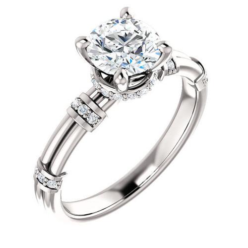 0.13 Ct Tw Diamond Accent Engagement Ring
