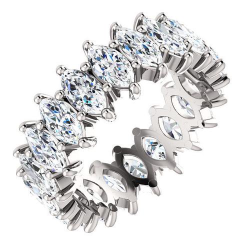 Platinum 5.0 ct tw Marquise Eternity Ring