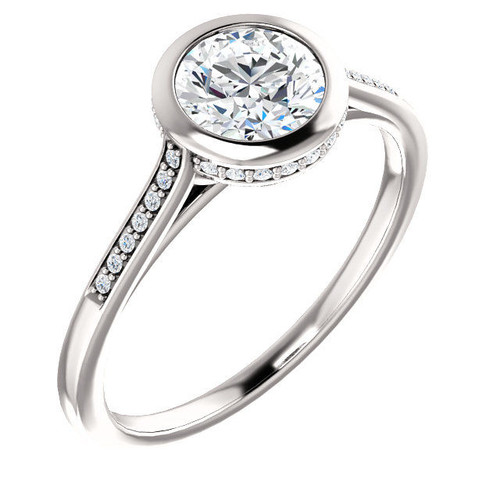 Bezel Diamond Accent Engagement Ring